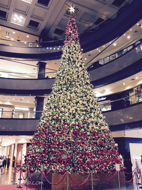 高島屋のクリスマスツリー