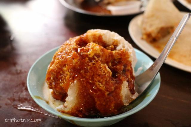 チェンドル。ブラウンシュガーがかかったチェンドル、これもやはりシンガポールのものとは違って美味しい。
